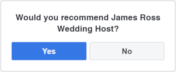Facebook - Review James Ross Wedding Host