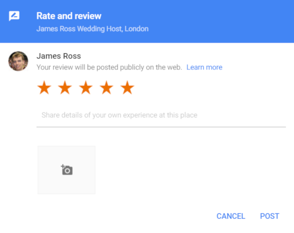 Google Maps Describe Experience