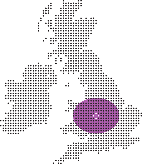 Map of the UK showing where James Ross Wedding Host operates